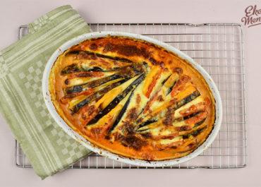 Koolhydraat arm recept: aubergine met paprika en tomaat